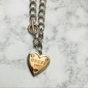 "Guess 16"" Heart Necklace"